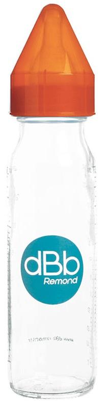 DBB Remond Kojenecká lahvička skleněná 240 ml, savička silikon 0-4 měsíce