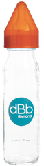 DBB Remond Üveg cumisüveg 240 ml, szilikon cumi 0-4 hónap