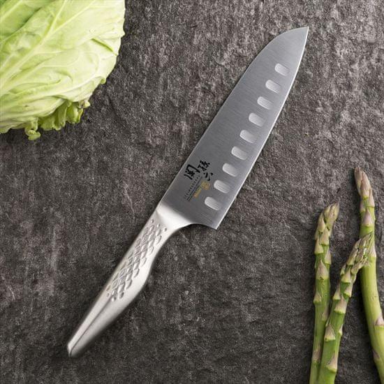 Kai Seki Magoroku Shoso santoku nož z urezi / 16,5 cm