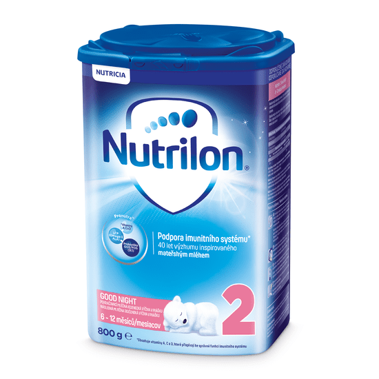 Nutrilon 2 Good Night pokračovacie dojčenské mlieko 800g, 6+