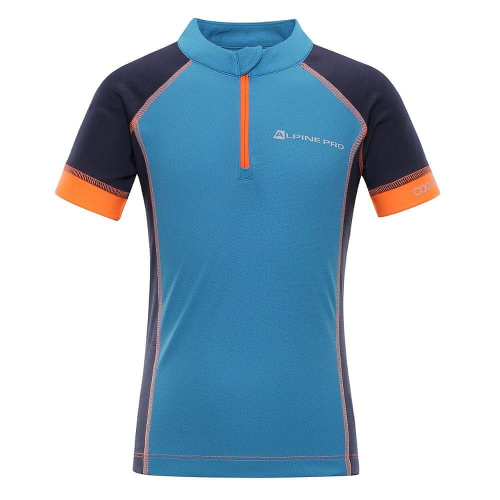ALPINE PRO chlapecké tričko Sorano 104 - 110 modrá