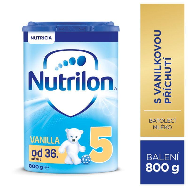 Nutrilon 5 Vanilka - dětské mléko 800g, 36+