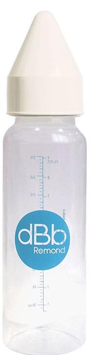 DBB Remond Kojenecká lahvička PP 270 ml, kaučuková savička NN bílá