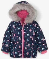 Hatley dekliška zimska jakna z zvezdicami, 98, roza/modra