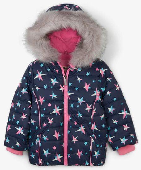 Hatley dekliška zimska jakna z zvezdicami