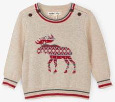 Hatley fantovski pulover z jelenom, 62 - 68, bež