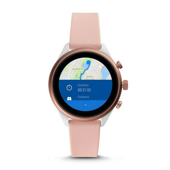 Fossil smartwatch FTW6022 F Silver/Nude Silicone Sport