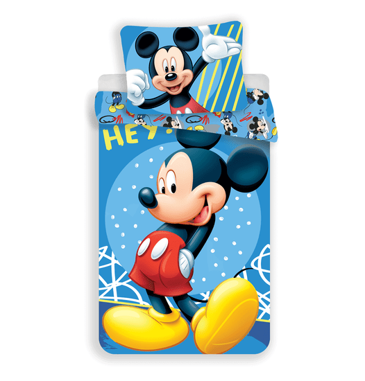 Jerry Fabrics komplet posteljnine Mickey Hey
