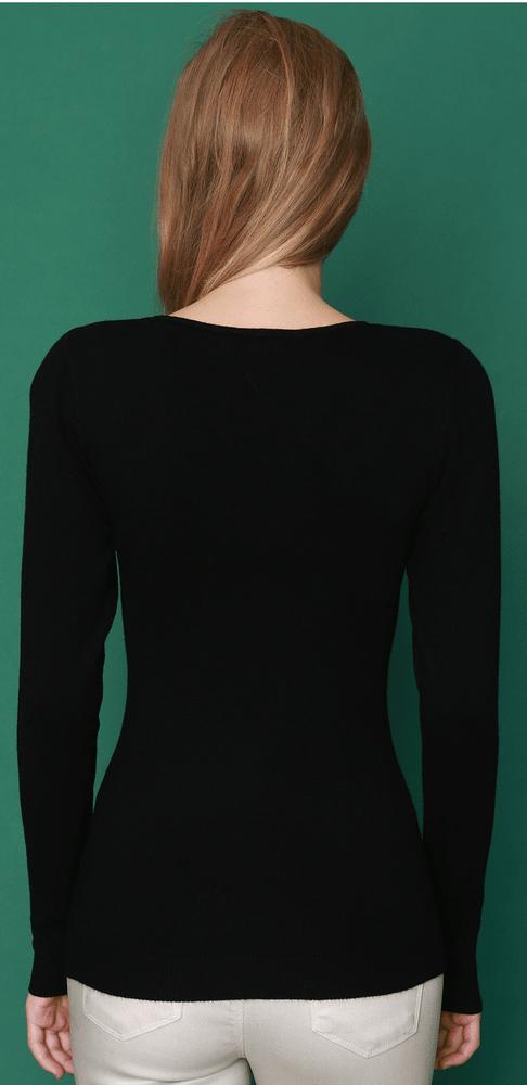 William de Faye dámský svetr WF310 XXL černá