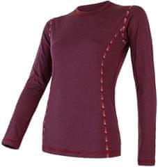 Sensor ženska majica z dolgimi rokavi Merino Air, XL, črna - Odprta embalaža