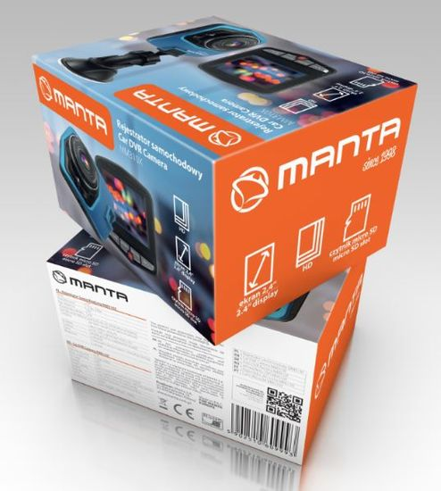 Manta MM310X avtokamera - Odprta embalaža