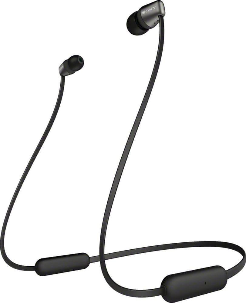 Sony WI-C310 bezdrátová sluchátka, černá