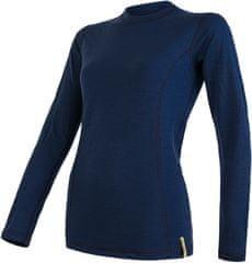 Sensor ženska športna majica Merino, dolg rokav, Deep Blue, S
