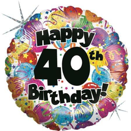 Grabo Nafukovací balónek k 40. narozeninám 46cm