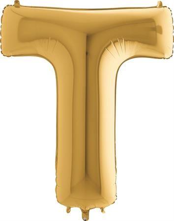 Grabo Nafukovací balónek písmeno T zlaté 102 cm