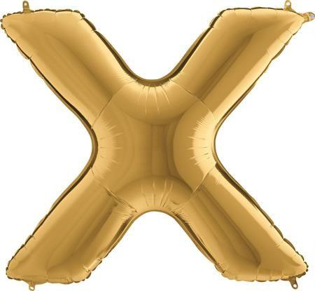 Grabo Nafukovací balónek písmeno X zlaté 102 cm