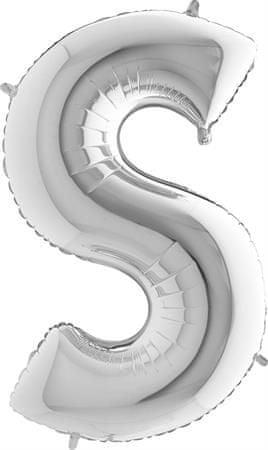 Grabo Nafukovací balónek písmeno S stříbrné 102 cm