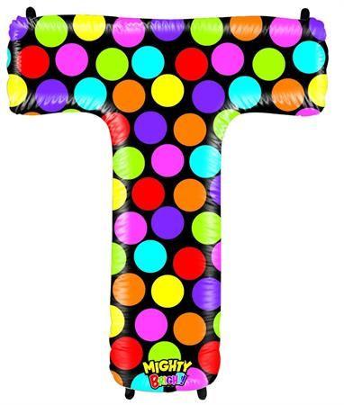 Grabo Nafukovací balónek písmeno T barevné 102 cm