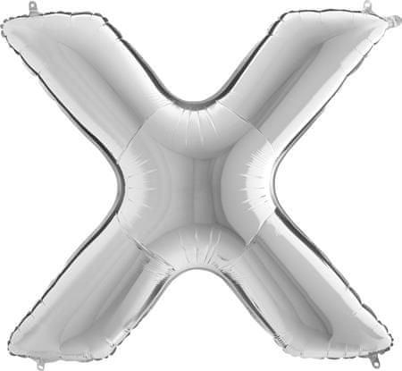 Grabo Nafukovací balónek písmeno X stříbrné 102 cm