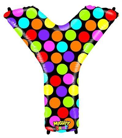 Grabo Nafukovací balónek písmeno Y barevné 102 cm