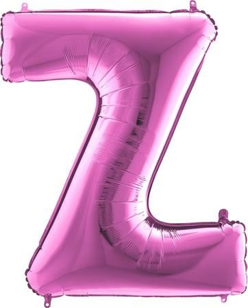 Grabo Nafukovací balónek písmeno Z růžové 102 cm