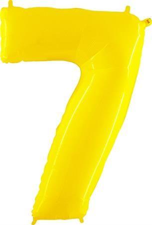 Grabo Nafukovací balónek číslo 7 žlutý 102cm extra velký