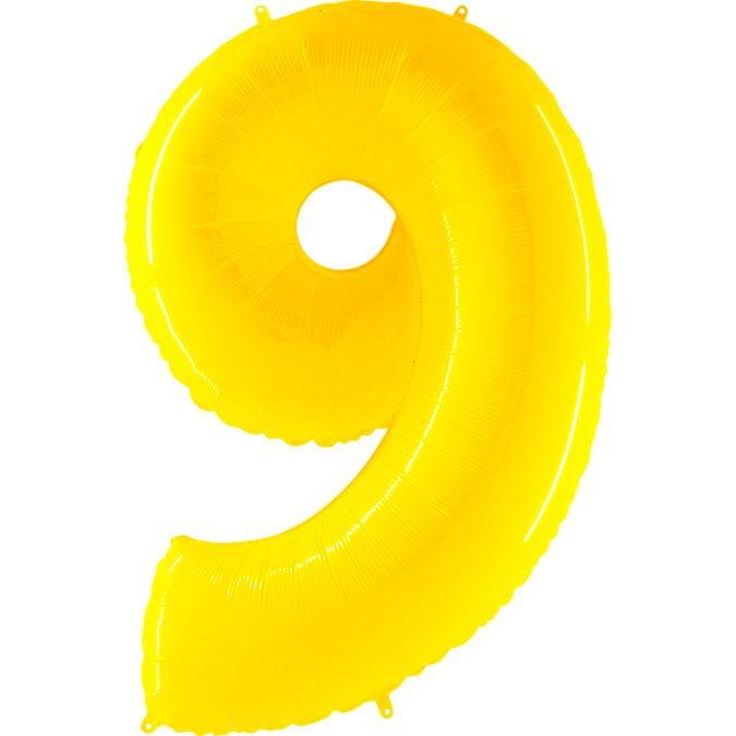 Grabo Nafukovací balónek číslo 9 žlutý 102cm extra velký