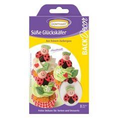 Cukrová dekorace na dort rozesmáté berušky 8ks v balení