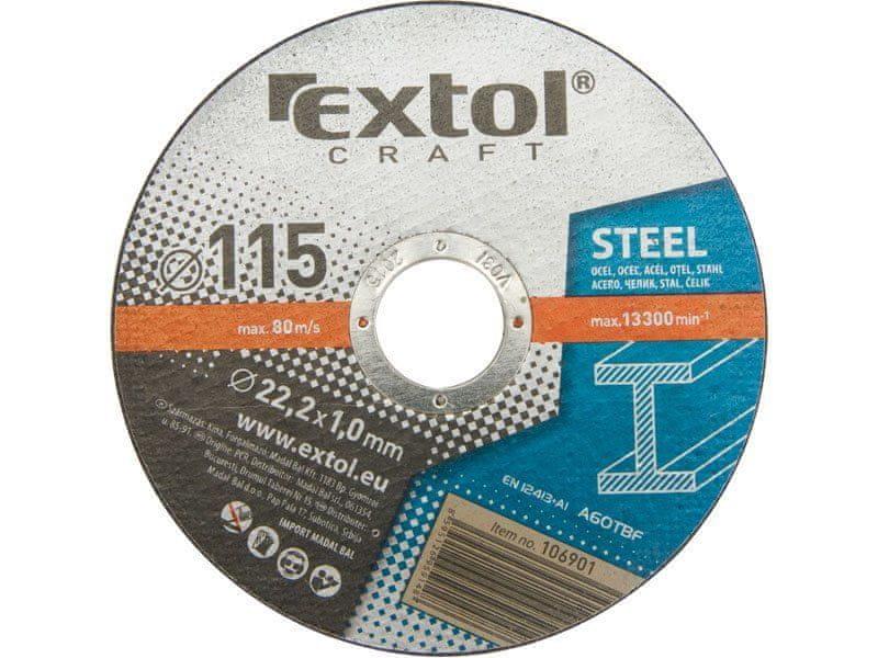 Extol Craft Kotouče řezné na kov, 5ks, 230x1,9x22,2mm