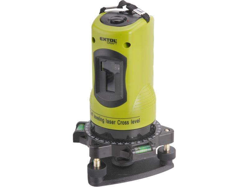 Extol Craft Laser liniový, křížový samonivelační 1H1V, 1H1V (1 horizontál. + 1 vertikál.)
