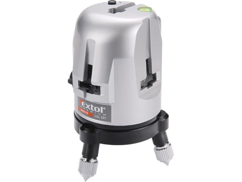 Extol Premium Laser líniový, krížový samonivelačné, presnosť: 0,5mm / 1m (bod 0,6mm / m)