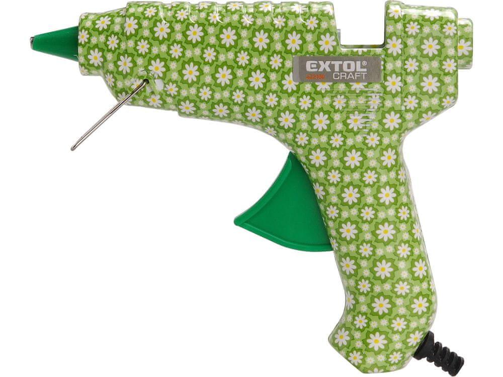 Extol Craft Pistole tavná lepící, květinová, 40W, 11mm