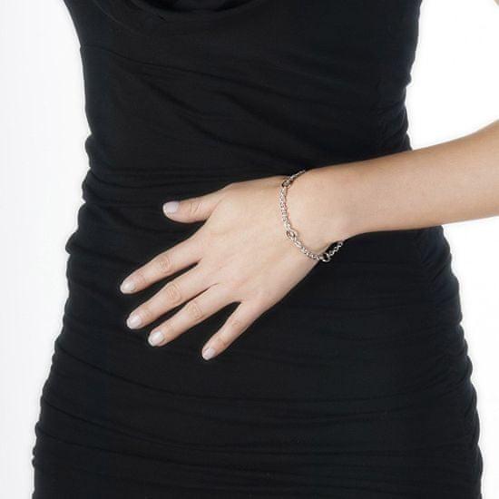 Hot Diamonds Srebrna bransoletka z brylantem Charm Elegance DL061