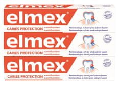 Elmex Caries Protection zobna pasta, 3x 75 ml
