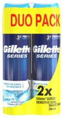 Gillette Series Sensitive pena za britje, 2x250ml