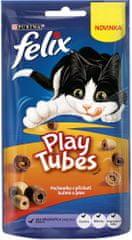 Felix Play Tubes s příchutí kuřete a jater 8 x 50 g