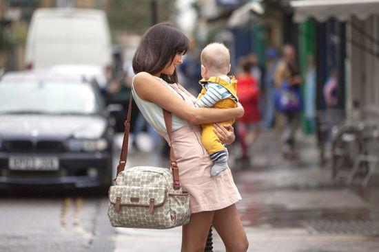 BABYMEL Molly prebaľovacia taška Dot Grey