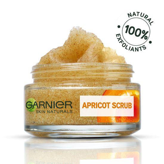Garnier Skin Naturals Apricot Scrub, piling + maska za obraz, 50 ml