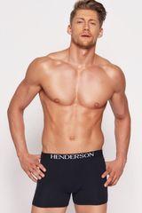 Henderson Férfi boxeralsó 35218 Man 99x black + Nőin zokni Gatta Calzino Strech, fekete, M