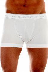 Brubeck Moške boksarice 00501A white, bela, XL