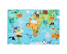 Obsession Dětský kusový koberec Torino kids 233 WORLD MAP 80x120