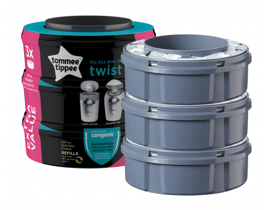 Tommee Tippee Náhradní kazety SANGENIC Twist&Click 3ks