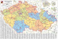 Excart Česká republika - železniční mapa 137 x 93 cm - papírová mapa
