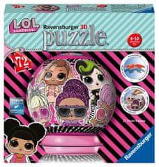 Ravensburger 3D sestavljanka 111626 Puzzleball LOL, 72 kosov