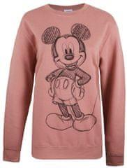 Disney Mickey Forward Sketch ženski pulover z dolgimi rokavi, XL, roza - Odprta embalaža