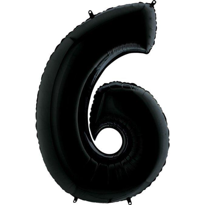 Grabo Nafukovací balónek číslo 6 černý 102cm extra velký