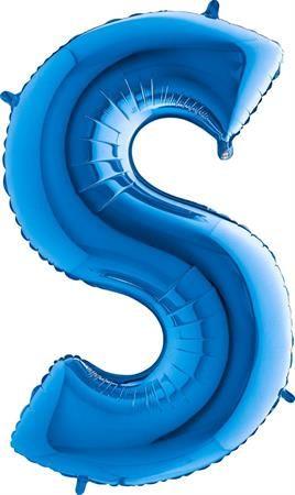 Grabo Nafukovací balónek písmeno S modré 102 cm