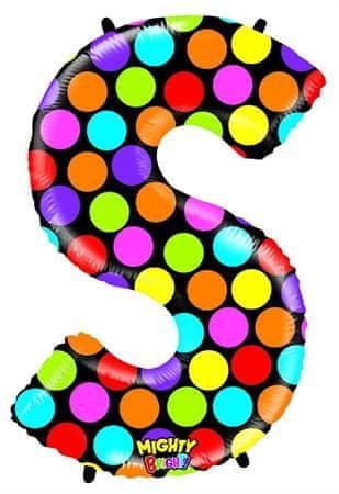 Grabo Nafukovací balónek písmeno S barevné 102 cm