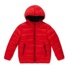 Primigi prešita bunda s kapuco, 124, rdeča