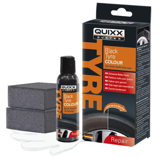 Quixx osvježavajuća boja za gume, crna, 75 ml